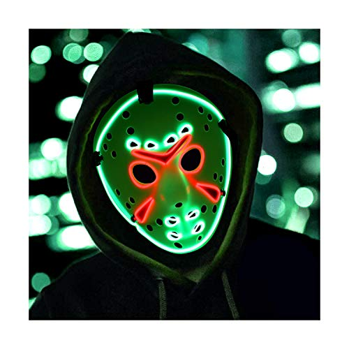 Mosqueda Jason Mask LED Light Up Mask
