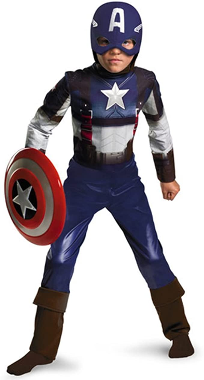 Winter Soldier Costume Avengers Child Boys Captain America 2 S 4-6 L 10 M 7-8