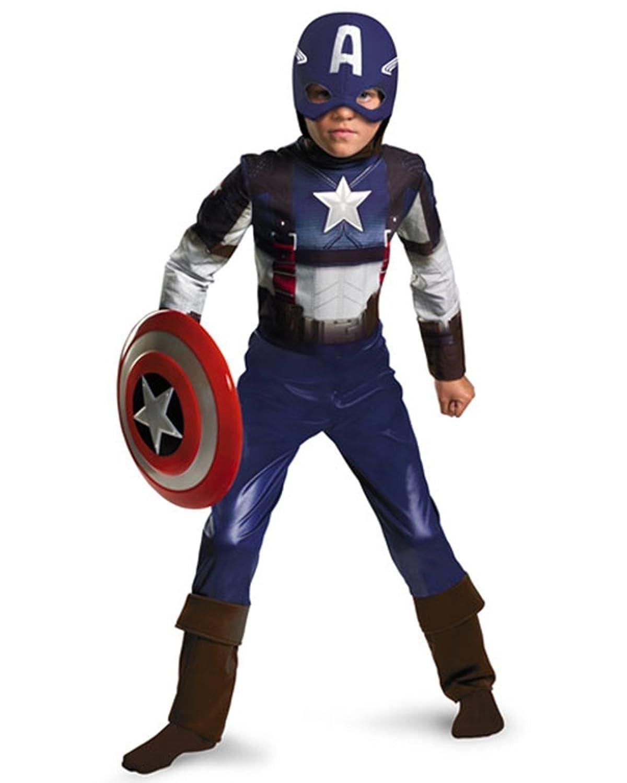 sc 1 st  Amazon.com & Amazon.com: Captain America Movie Child Classic Costume: Clothing
