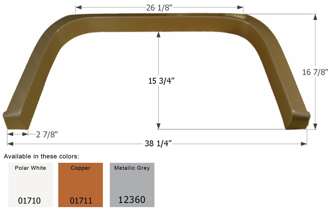 ICON Coachmen Single Axle Fender Skirt FS1710, Polar White