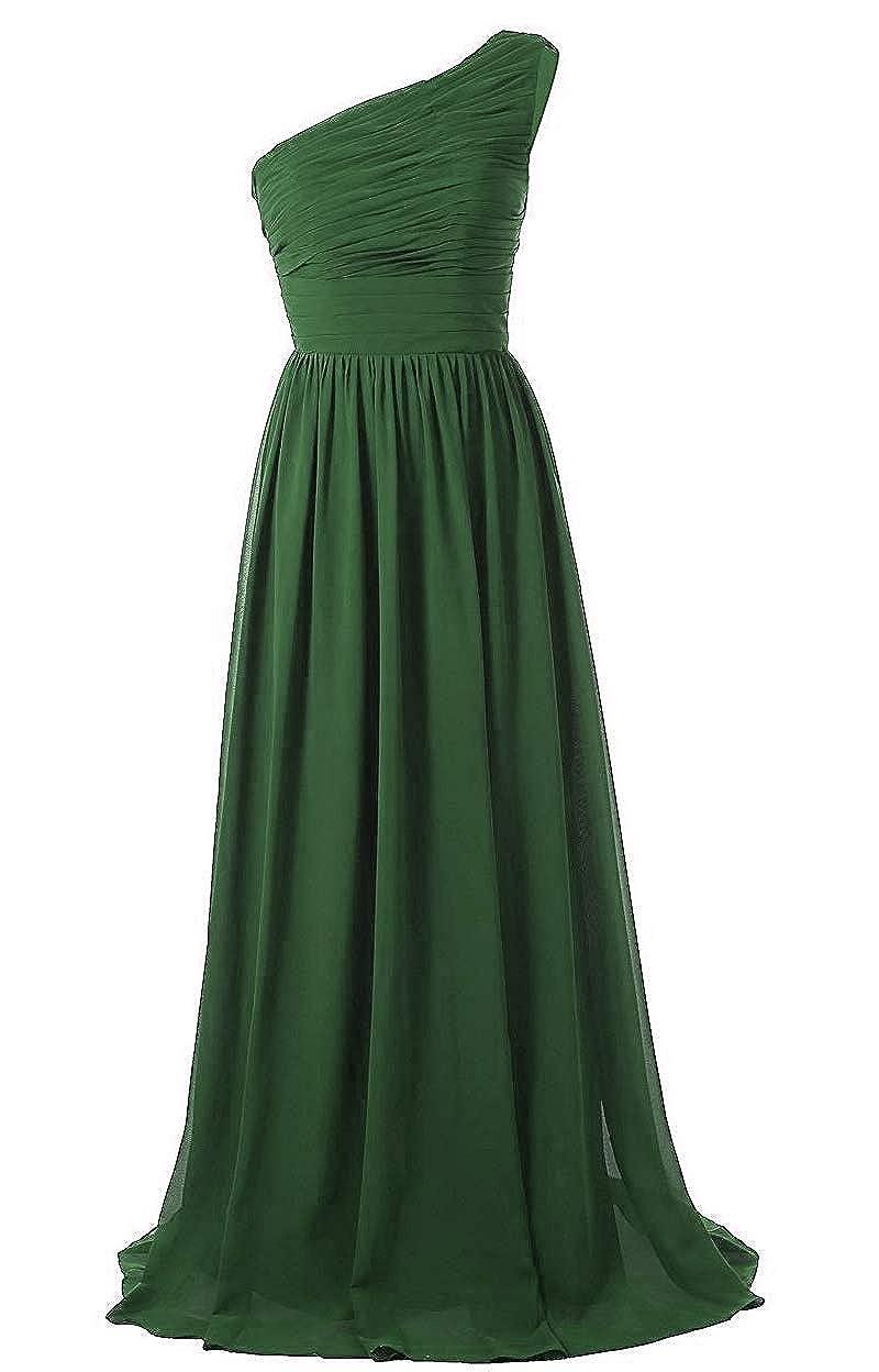 Dark Green Baixia Women's Formal Long Prom Evening Dresses Sweetheart Chffion Ball Gowns