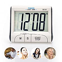 Senbowe™ Digital Kitchen Timer/ Cooking Timer with Large Display Screen, Loud Sounding Alarm, Strong Magnetic Backing, Retractable Stand
