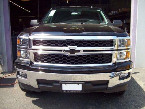 Billet Bowtie Front Insert Emblem Black 14 15 Silverado