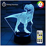 toy room ideas Dinosaur Toys, T Rex Night Lights for Kids 7 Colors Changing 3D Night Light with Timer & Remote Control & Smart Touch, T Rex Toys Birthday Gifts for Boys Age 2 3 4 5 6+ Year Old Boy Gifts (T-Rex 2)