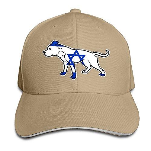 Unisex Pit Bull Israel Flag Baseball Cap Adjustable Peaked Sandwich Cap