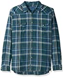 Lucky Brand Men's Santa Fe Western Shirt, Indigo/Green, S