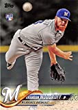 #5: 2018 Topps #179 Brandon Woodruff Milwaukee Brewers Rookie Baseball Card