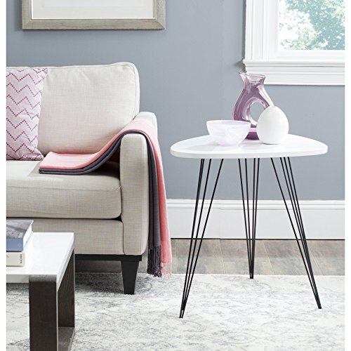 Safavieh Home Collection Wynton Mid-Century Modern White and Black End Table