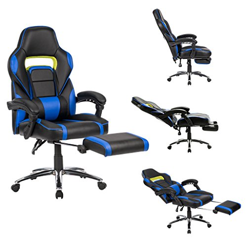 NEW Chair Executive Office Seat Back High Ergonomic Desk Computer Swivel Black Racing Car Gaming Race Bucket Style
