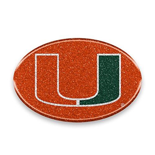 "NCAA Miami Hurricanes Color Bling Emblem, 4"" x 4"", Orange"