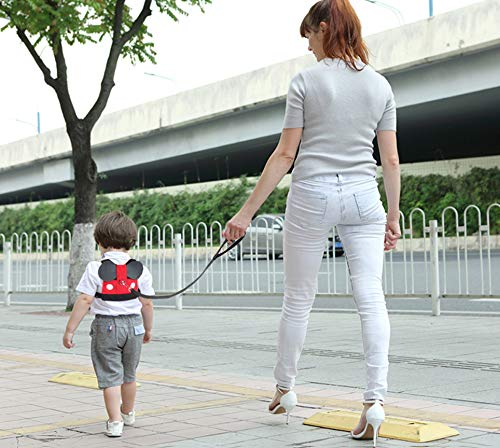 Idefair Kids Harness Kids Walking Leash Safety,Baby Anti Lost Safety Harness,Toddler Harness Safety Leashes for 1-5 Years Old Boys and Girls - Red by Idefair (Image #4)