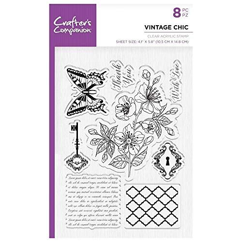Crafter's Companion Unmounted Clear Acrylic Stamp - Vintage Chic