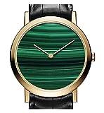 LEEZONE Piaget Malachite Reloj de Oro 38 mm Regalo de Lujo (Verde)