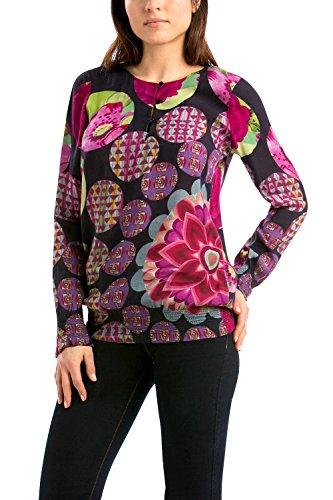 Noir Xl Shirt Manches Ball Blus Tee Garden Desigual Longues HI9W2ED