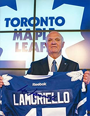 Autographed Lou Lamoriello 8x10 Toronto Maple Leafs Photo