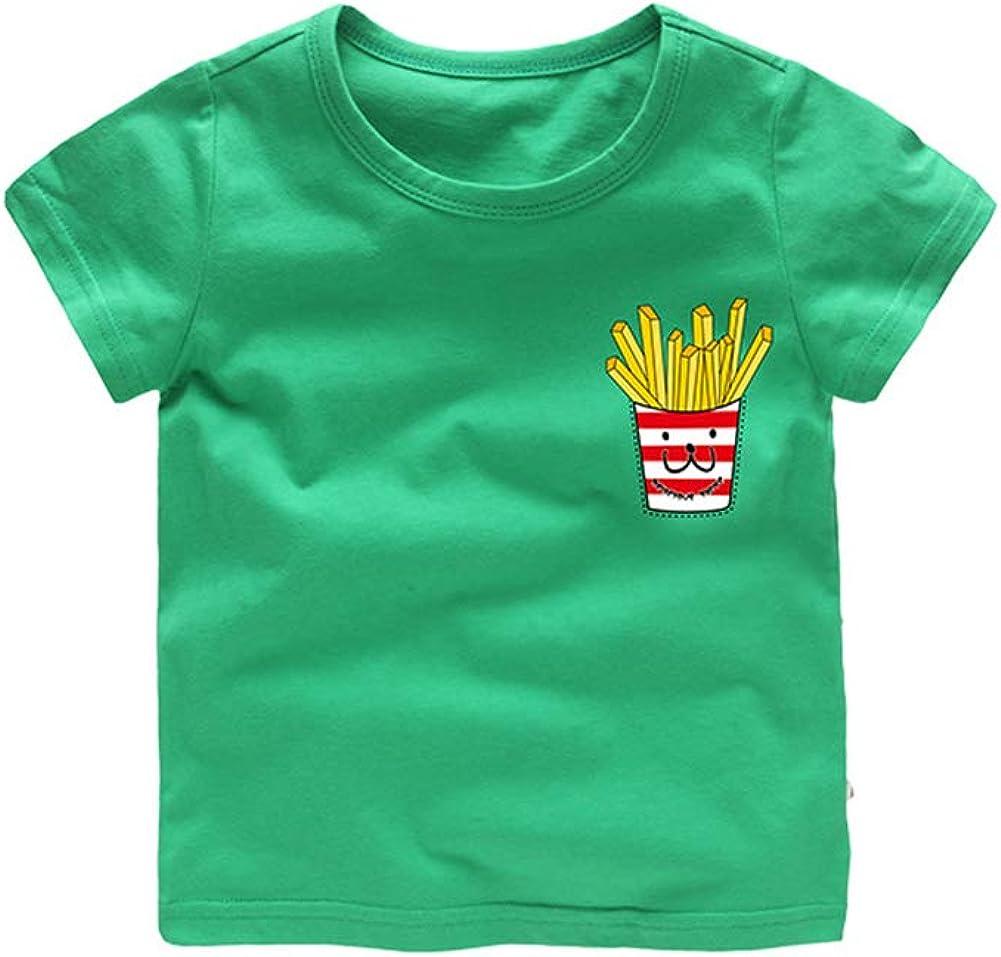 Mud Kingdom Little Boys T-Shirts Cartoon French Fries Cute Summer