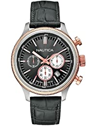 Wristwatch, cronografo al quarzo, Leather, Men. Nautica