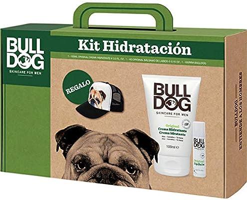 Bulldog Cuidado Facial para Hombres Hydration PACK - Kit Hidratación de Cara y Labios, Incluye Crema Hidratante Original 100 ml + Bálsamo Labial 4 g + Gorra de Regalo, Verde: Amazon.es: Belleza
