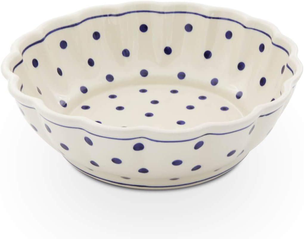 /Ø 24,2 cm H = 7cm V = 1,3 l Bunzlauer Bol en c/éramique avec bord ondul/é