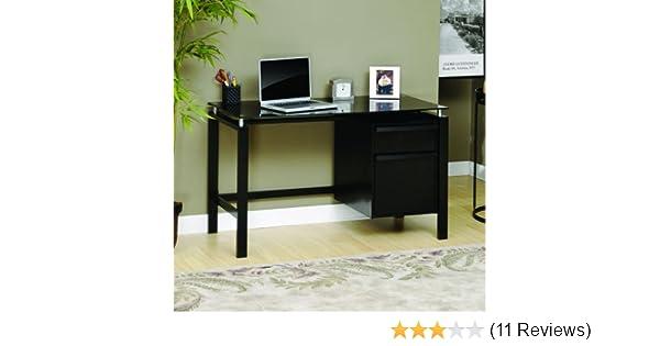 Sauder Lake Point Desk Office Glass Desk