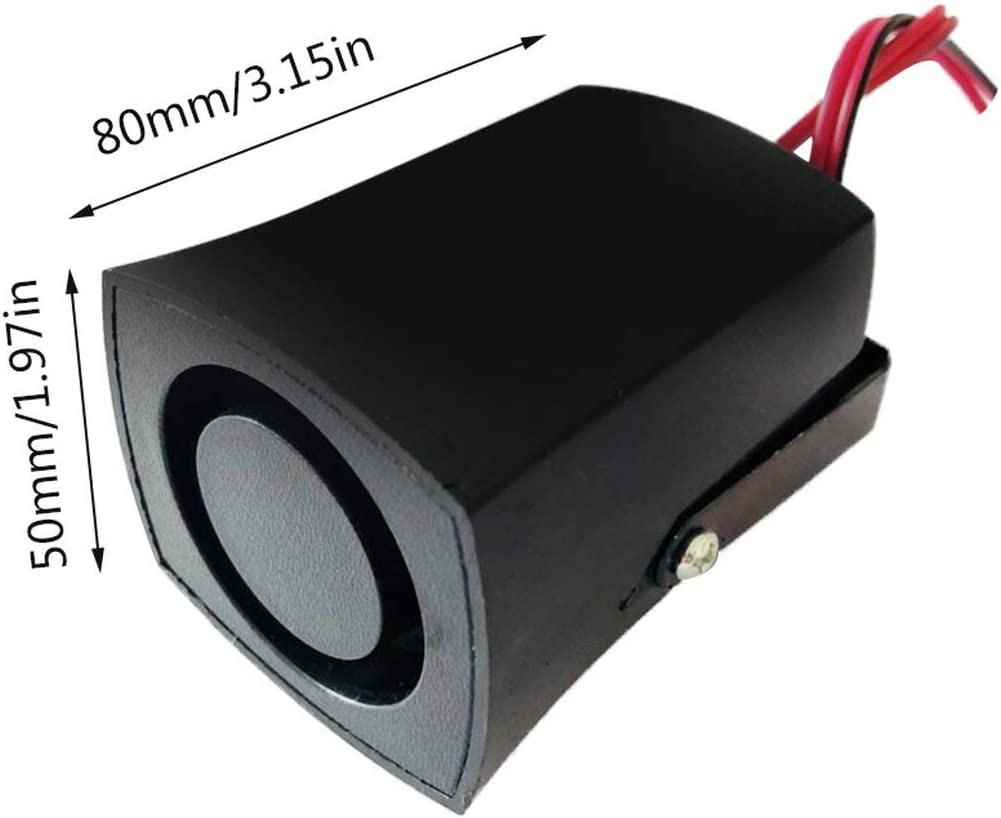 Ba30FRllylelly 12 V Air Horn Voiture Camion V/éhicule Inverser Son Haut-Parleur Buzzer Alarme Corne Sir/ène Avertir Beeper Convient pour Divers V/éhicules