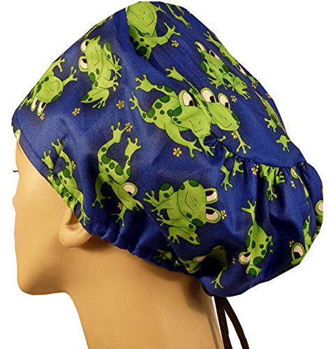 (Riley Medical Scrub Caps - Smiling Frogs)