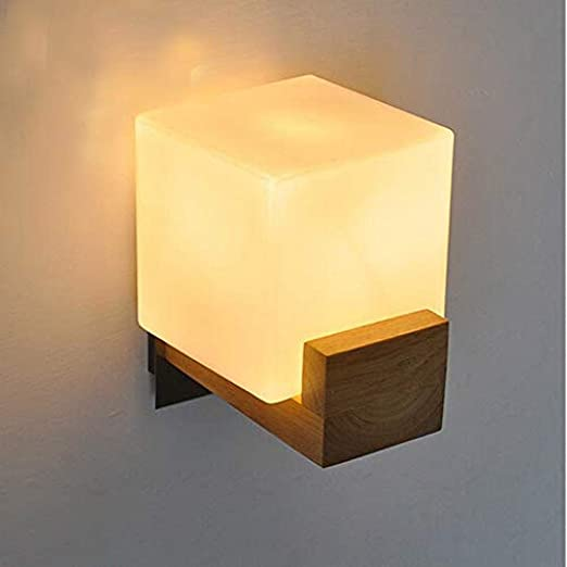 Luz decorativa Estilo de dormitorio simple balcón de madera luz escalera luz de la pared: Amazon.es: Iluminación