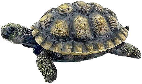 Bellaa 23004 Turtle Statues Indoor Outdoor Garden Cute Gilbert Tanya Tortoise 9 inch Realistic Animal Galapagos Todd…