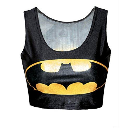 Toyslands Fashionable Sleeveless Vibrant Batman Logo Printed Sleeveless T-shirt Tank