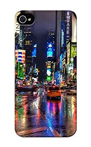 RedkJDF448ZdLds Awesome New York City Street Flip Case With Fashion Design Case For Iphone 4/4S Cover As New Year's Day's Gift
