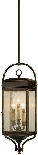 Feiss OL7411ASTB Whitaker Outdoor Lighting Pendant Lantern, Bronze, 3-Light 6 W x 28 H 180watts