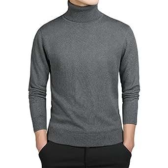 Amazon.com: Soto6ro Turtleneck Sweaters Men Solid Long