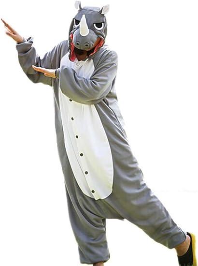 Unisex Animal Cosplay Disfraz Rinoceronte Pijamas Adulto Animal ...