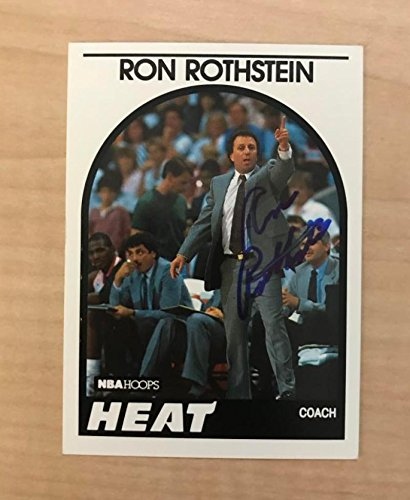 RON ROTHSTEIN MIAMI HEAT SIGNED AUTOGRAPHED 1989 NBA HOOPS CARD #172 W/COA