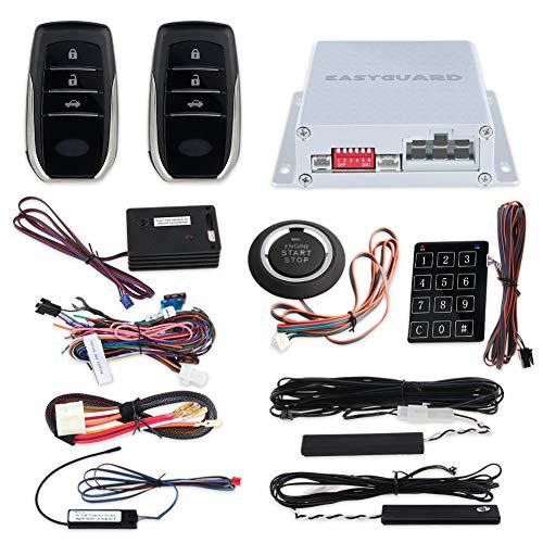 EASYGUARD pke car anti theft alarm keyless entry system push button remote start