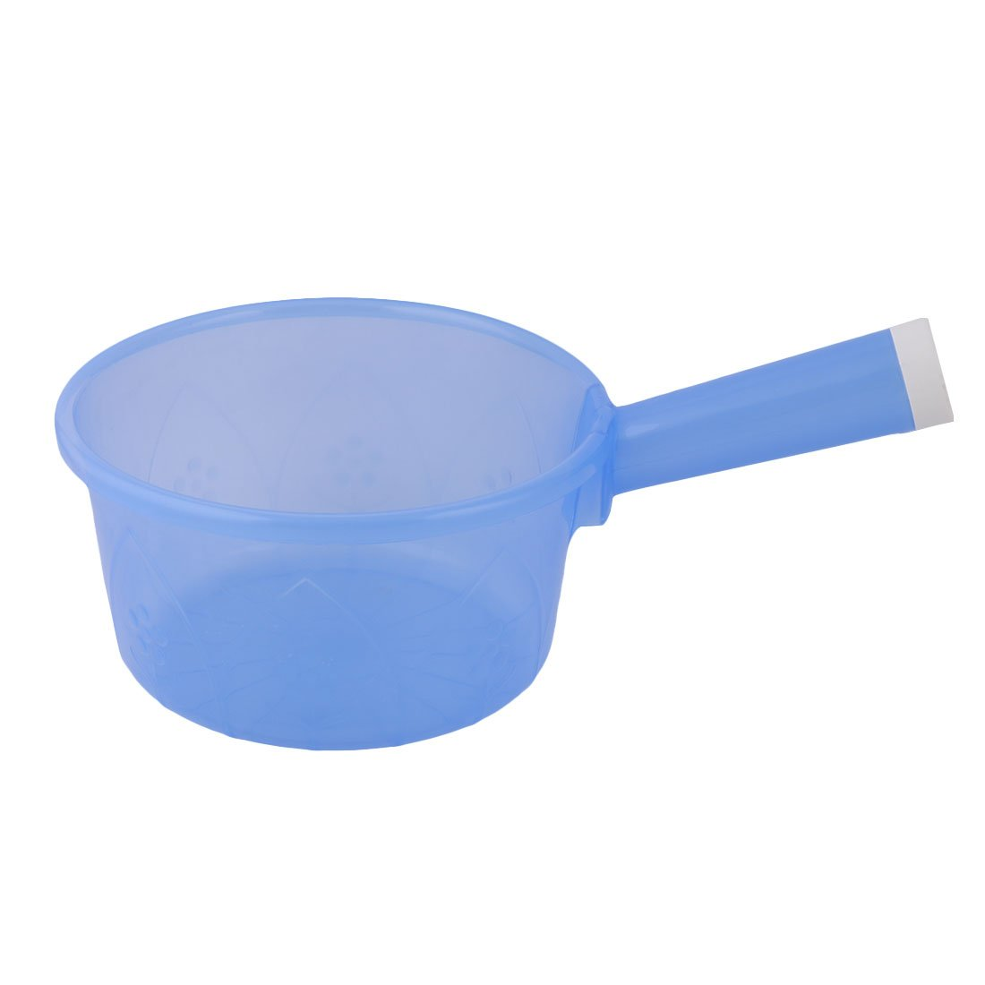 sourcingmap® Plastic Round Shape Household Kitchen Nonslip Grip Water Dipper Ladle Bailer Blue a17050900ux1192
