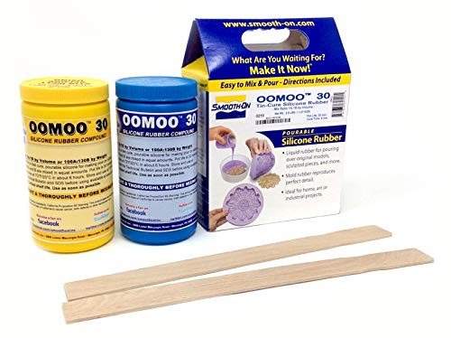 (DIY Molding and Casting Set Smooth-On Silicone Mold Making Liquid Rubber OOMOO 30 with Mixing Supplies Kit)