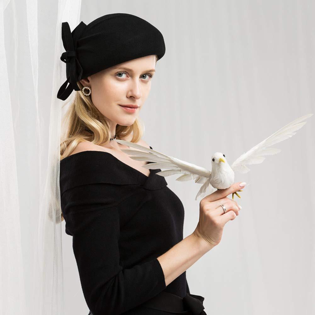 ... XJYA A Cappello A XJYA Cilindro Mini per Donna Cappello in Lana  Regolabile 465cc884b58