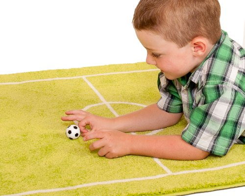 Feel Good Art FOOTBALL-100150-DE IVI Hypoallergener dicker 3D-Kinderspielteppich