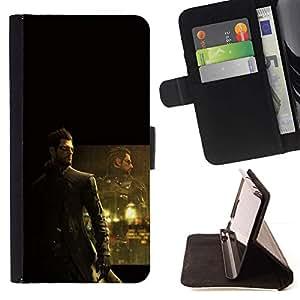 Momo Phone Case / Flip Funda de Cuero Case Cover - DeusEX Cyborg;;;;;;;; - HTC One M8