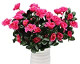 artificial flowers for outdoors - Lopkey Outdoor Artificial Red Azalea Bush Rose Red