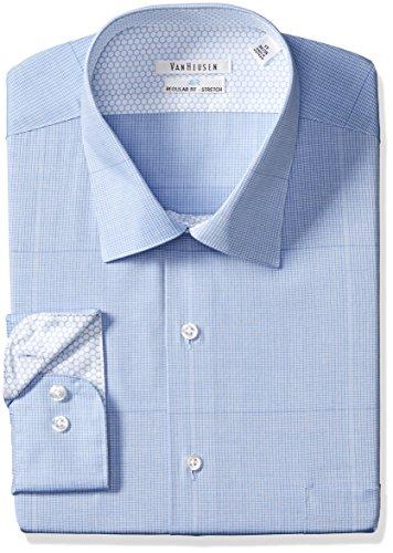 Van Heusen Mens Air Regular Fit Check Spread Collar Dress Shirt
