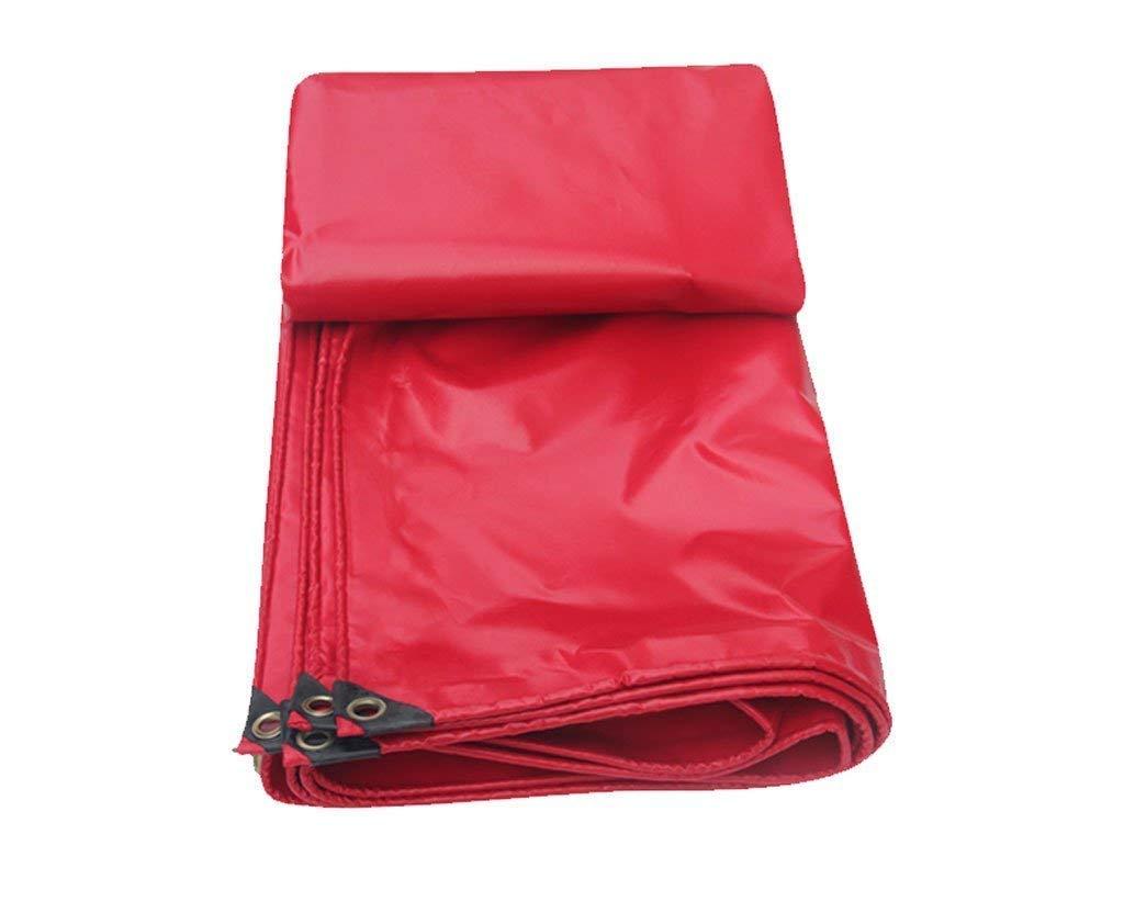 ターポリン、防水頑丈なタフ、アイテムのカバーに適して、庭の装飾、屋外キャンプ、キャンプテント、マルチサイズオプション、赤 (サイズ さいず : 5 * 10M) B07HM4H8K5  4*6M 4*6M