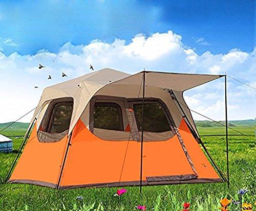 Automatisches hydraulisches wasserdichtes Zelt für 4-8Personen, Pop-up, baut sich selbst auf, für Camping und den Außenbereich geeignet Einfach Zu Installieren Und Paket Orange 300  270  210cm