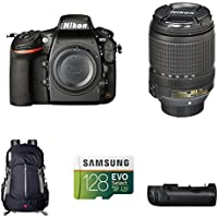 Nikon D810 FX-Format DSLR Camera with 18-140mm Lens Deluxe Battery Grip Bundle