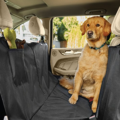 The Original GORILLA GRIP (TM) Slip-Resistant Pet Car Seat Cover Protector for Pets, Waterproof, Underside Grip, Great for Dogs or Cats, Seat Belt Openings, Seat Anchors and Pocket (Hammock: Black)