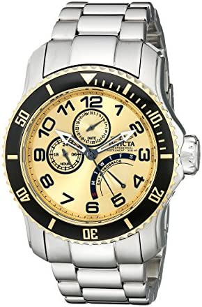 Invicta Men s 15337 Pro Diver Gold Dial Stainless Steel Watch