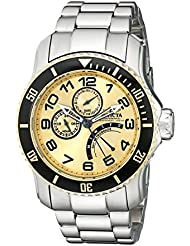 Invicta Mens 15337 Pro Diver Gold Dial Stainless Steel Watch