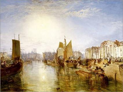 Acryl Glasbild Wandbild Druck auf Acryl Glas Bild Posterlounge Acrylglasbild 40 x 30 cm: Der Hafen von Dieppe von Joseph Mallord William Turner