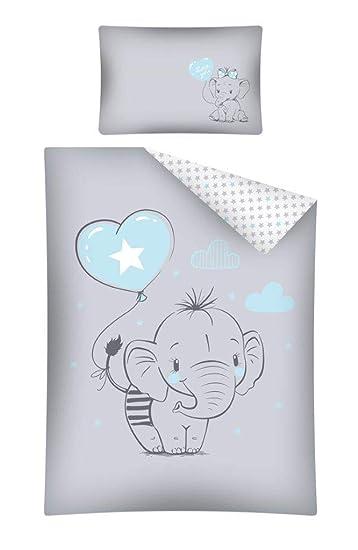 Kinderbettwäsche Bettwäsche 100x135 40x60 Elefant Babybettwäsche